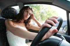 девушка водителя Стоковые Изображения