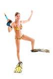 девушка водолаза Стоковое Изображение RF
