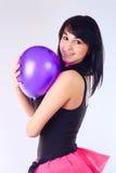 девушка воздушного шара Стоковое Изображение RF