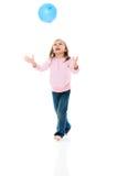 девушка воздушного шара стоковые фото