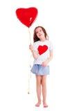 девушка воздушного шара Стоковые Изображения RF