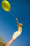 девушка воздушного шара Стоковое Изображение