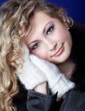 Девушка возникновения slavic с длинними справедливыми волосами Стоковые Фотографии RF