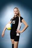 Девушка волейбола стоковая фотография