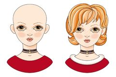 Девушка воплощения красивая redheaded Стоковое Изображение RF