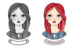 Девушка воплощения красивая redheaded Kinky предназначенное для подростков Стоковое Изображение RF