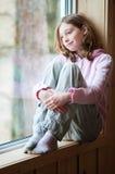 Девушка времени твена стоковое фото rf