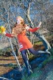 девушка выходит русский природы Стоковое Изображение RF