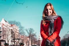 Девушка в Амстердаме Нидерландах стоковая фотография rf
