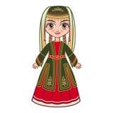 Девушка в армянских национальных одеждах Стоковое Фото