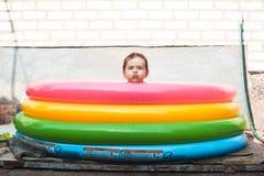 Девушка в бассеине Стоковое фото RF