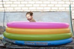 Девушка в бассеине Стоковое Изображение RF