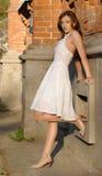 Девушка в белизне Стоковое Фото