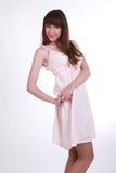 Девушка в белом платье Стоковые Изображения RF