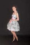Девушка в белом платье Стоковые Изображения