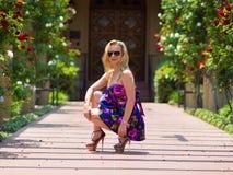 Девушка в ботинках высокой пятки Стоковые Фото