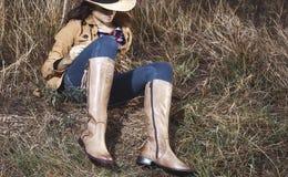 Девушка в ботинках Стоковые Изображения RF