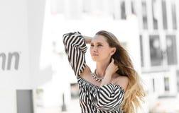 Девушка в ветре Стоковое фото RF