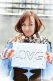 Девушка в влюбленности Стоковая Фотография