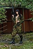 Девушка в войне Стоковое Изображение RF