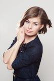 Девушка в голубом платье Стоковые Фотографии RF