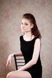 Девушка в готическом изображении стоковые фотографии rf