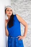 Девушка в сини Стоковая Фотография