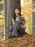 Девушка в древесине Стоковые Фотографии RF