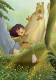 Девушка в лесе Стоковое Изображение RF