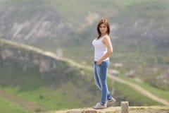 Девушка в джинсах Стоковая Фотография RF