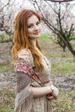 Девушка в зацветая садах Стоковое фото RF