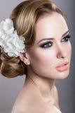 Девушка в изображении невесты Стоковое Фото