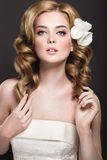 Девушка в изображении невесты Стоковое фото RF