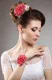 Девушка в изображении невесты Стоковое Изображение