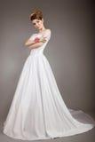 Девушка в изображении невесты Стоковые Изображения