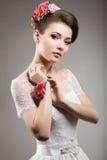 Девушка в изображении невесты Стоковые Фотографии RF