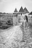 Девушка в длинном платье Стоковые Изображения RF