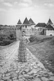 Девушка в длинном платье Стоковая Фотография RF