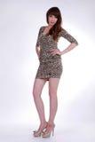 Девушка в коротком платье Стоковая Фотография RF