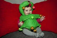 Девушка в костюме рождественской елки Стоковые Фотографии RF