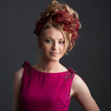 Девушка в красном платье Стоковое Фото