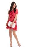 Девушка в красном платье Стоковое Изображение