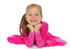 Девушка в красном теле спортов Стоковое Фото