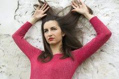 Девушка в красном цвете Стоковая Фотография RF