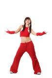 Девушка в красных одеждах Стоковое фото RF