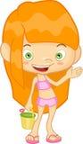 Девушка в купальнике Бесплатная Иллюстрация