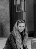 Девушка в куртке Стоковое фото RF