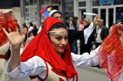 Девушка в национальном costume Стоковое Фото