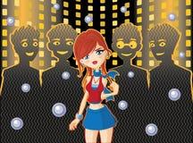 Девушка в ночном клубе Стоковые Фото