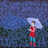 Девушка в дожде Стоковое фото RF